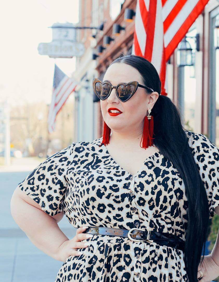 why is fashion important alysse in plus size leopard print shirt with belt