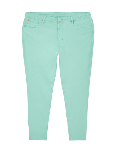 plus size aquamarine skinny jeans