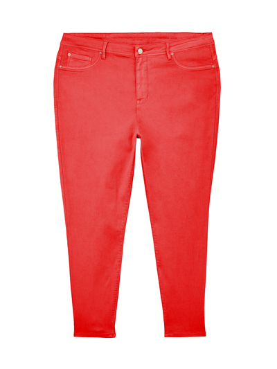 plus-size denim for fall red skinny jeans