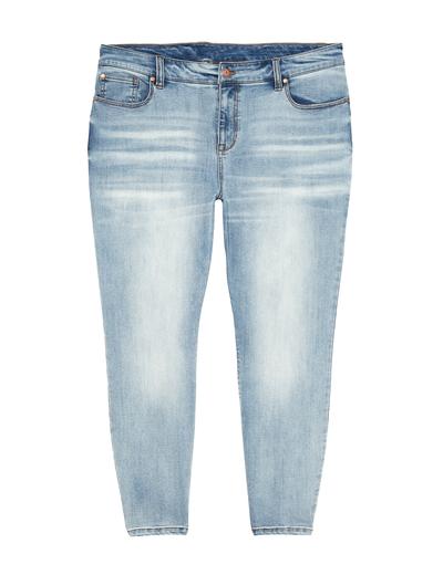 plus size light-wash jeans