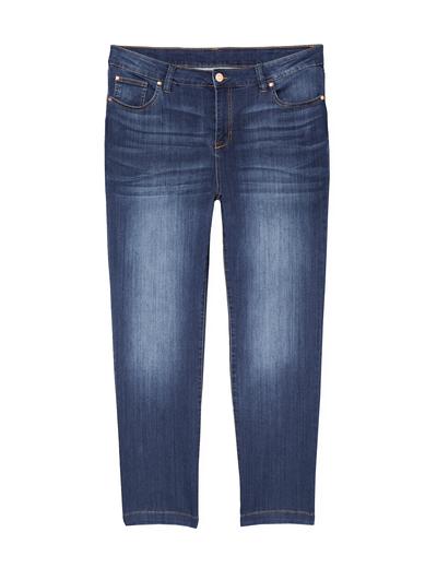 plus size dark wash straight-leg jeans
