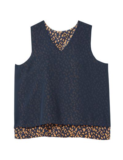 plus size leopard print tank