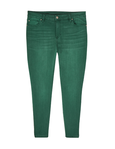 plus size green denim