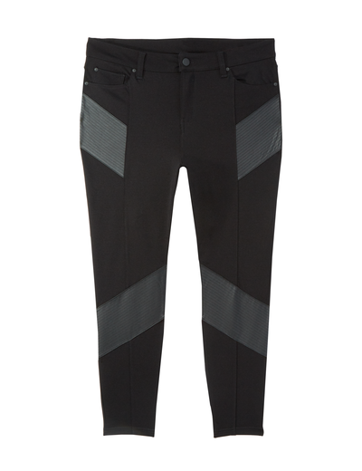 plus size black moto pants