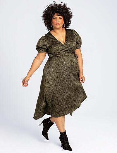 angellika plus size leopard print dress