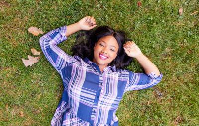 body positivity plus size woman in fall