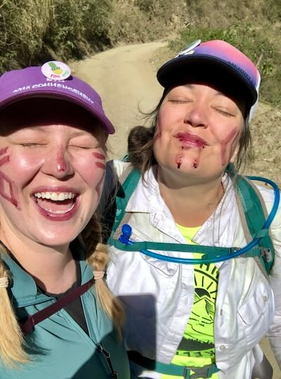 hiking facepaint