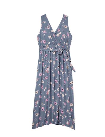 plus size blue floral dress