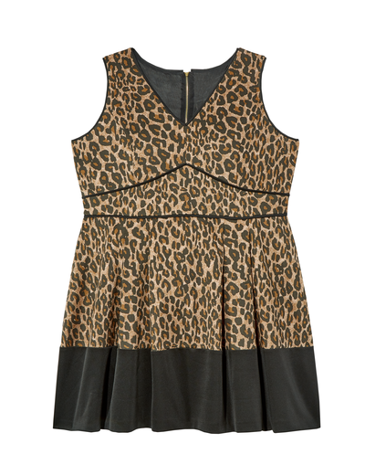 plus size leopard print dress