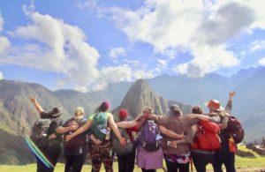 Fat women overlooking Machu Picchu