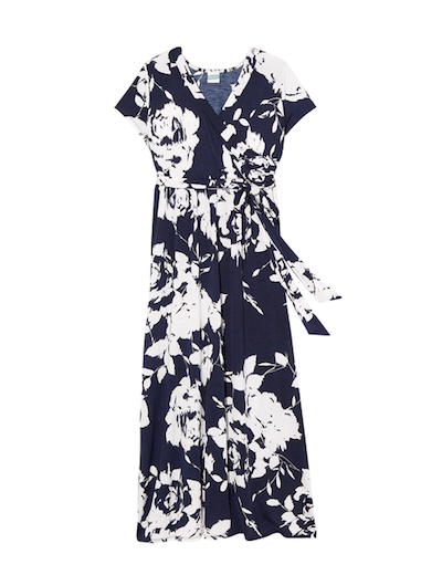 plus size graphic printed maxi dress