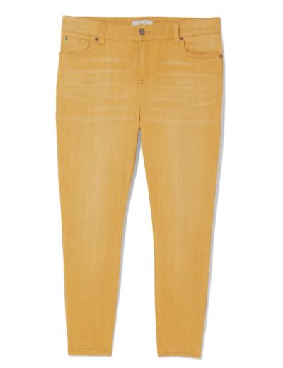 jewel tones plus size yellow skinny jeans