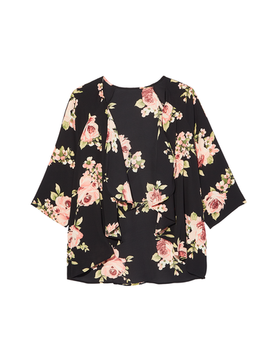 Floral kimonos that'll flow with your plus-size style