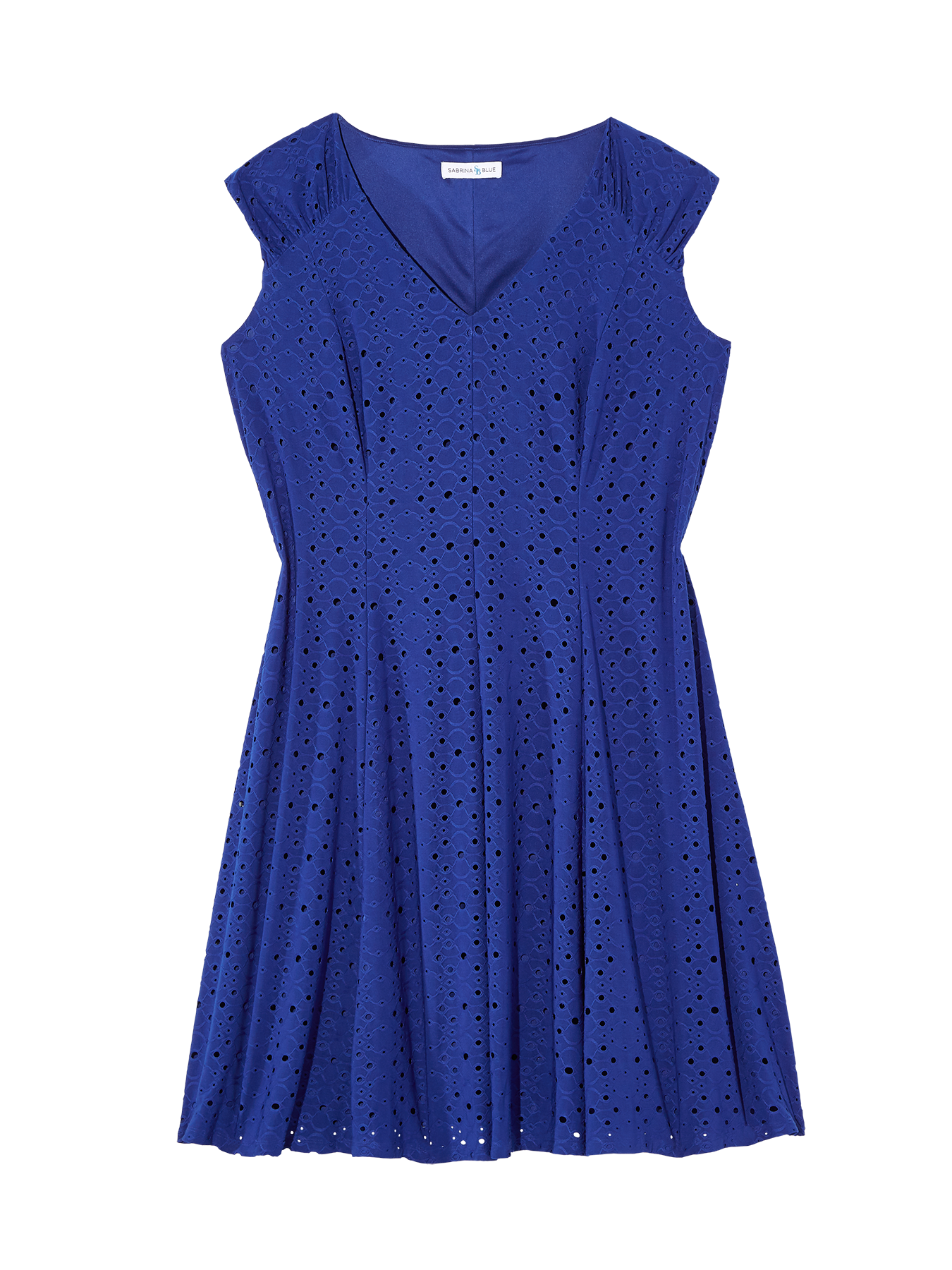 plus size blue dress