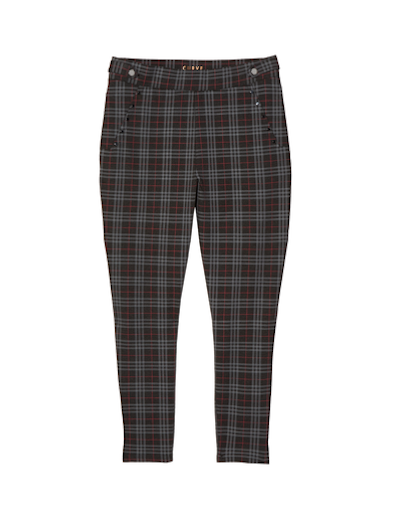 menswear plus size plaid ankle pants