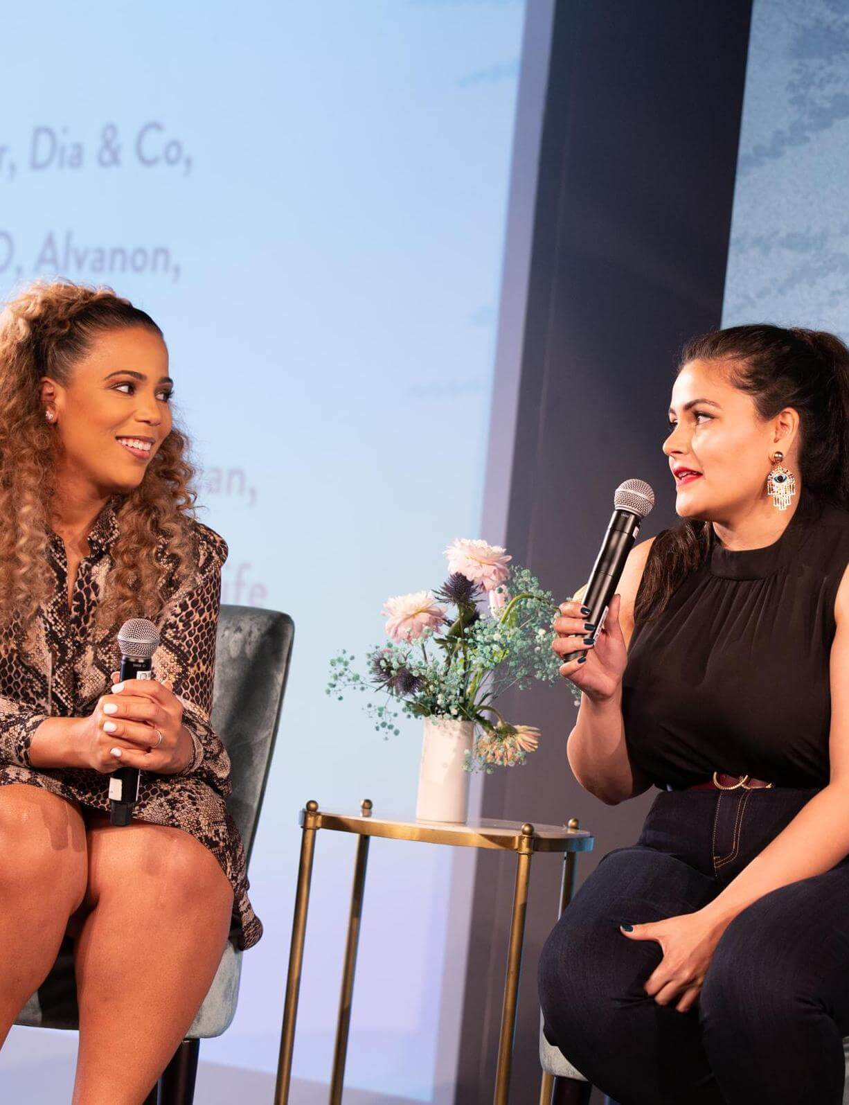 thecurvycon 2019 chastity garner valentine and nadia boujarwah fireside chat