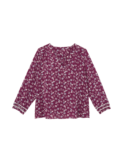 jewel tones plus size purple floral top