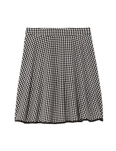 menswear plus size gingham a line skirt