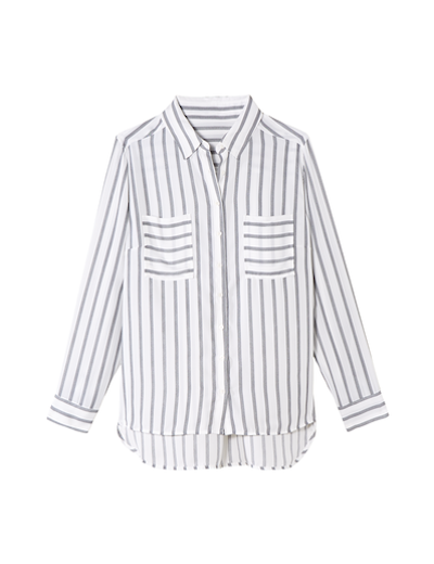 menswear plus size striped button up