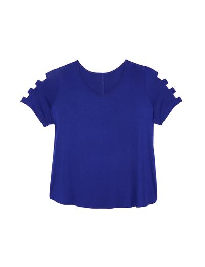 jewel tones plus size royal blue t shirt