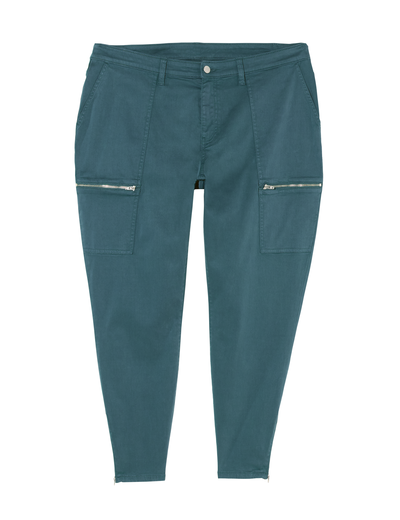 In three colors, these utility pants will match your plus-size style