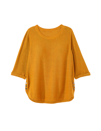 fall fashion 2019 plus size mustard yellow three quarter length sweater
