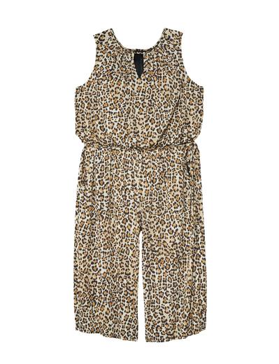 leopard print plus size jumpsuit