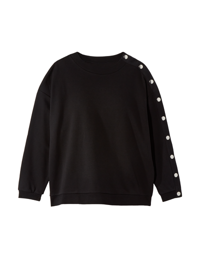 fall fashion 2019 plus size black button sleeve sweater