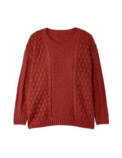 jewel tones plus size red sweater