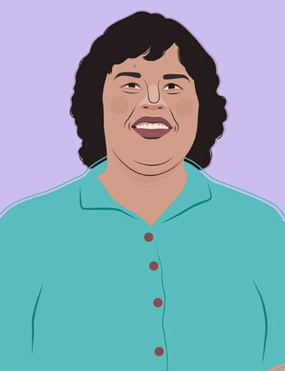 illustration of Britney Young from GLOW