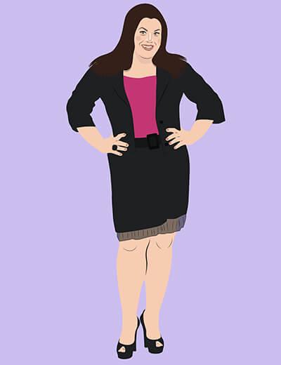 illustration of Brooke Elliott from Drop Dead Diva
