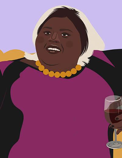 illustration of Gabourey Sidibe in Empire