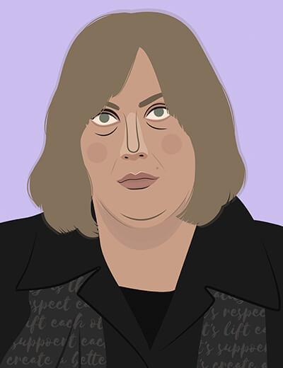 illustration of Joy Nash in Dietland