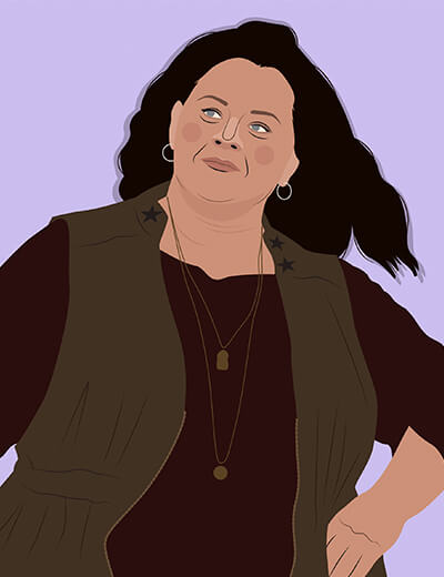 illustration of Melissa McCarthy in The Heat