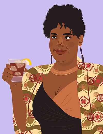 illustration of Natasha Rothwell from Insecure