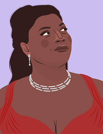 illustration of Queen Latifah from Last Holiday