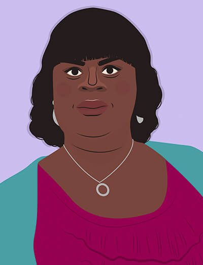illustration of Rhetta from Parks and Recreation