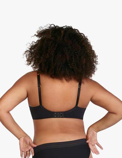 ThirdLove plunge bra in the color black.