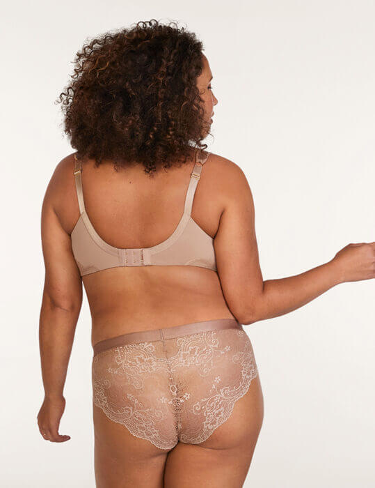 ThidLove plus size lace back cheeky panty on Dia & Co
